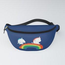 Unicorn on rainbow slide Fanny Pack