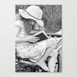 Summer Reading Canvas Print