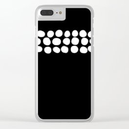 Little White pebbles Clear iPhone Case