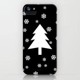Snowy - black - more colors iPhone Case