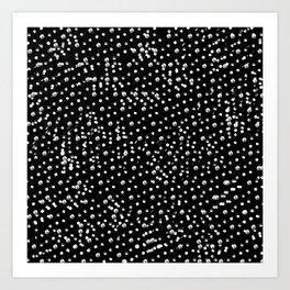 Dotted - Black Art Print
