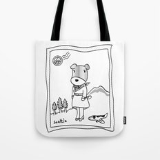 Lolo in Seattle(in her dream) Lolo the dog Tote Bag