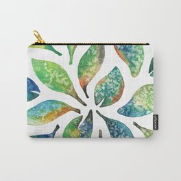 Watercolor floral leaf pattern Carry-All Pouch