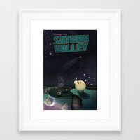 earthbound Framed Art Prints featuring Earthbound - Greetings From Saturn Valley  by The Retro Videogamers