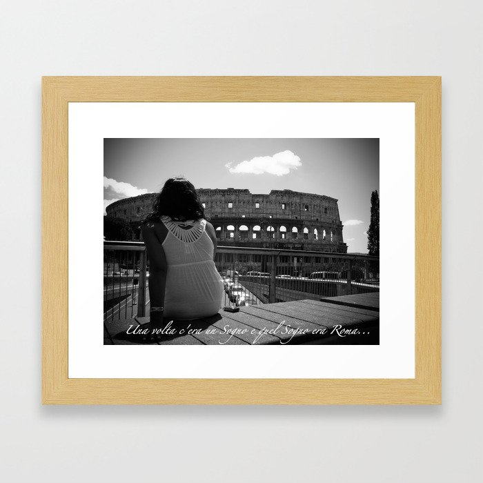 C'era un sogno Framed Art Print