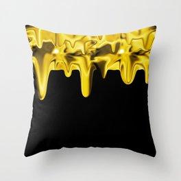Drippin' Gold Throw Pillow