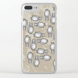 grizzly bear in foliage Clear iPhone Case