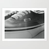 vans Art Prints featuring Vans by Kai Gee