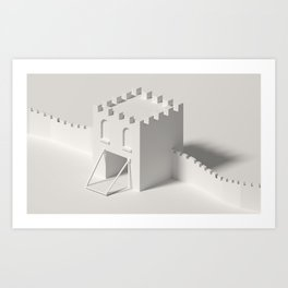 city gate Art Print