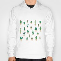 cacti Hoodies featuring Cacti Garden by Suzz in Colour