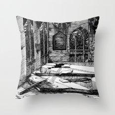 Moon Church Throw Pillow