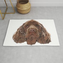 Sussex Spaniel native southern England Clumber Spaniel energetic Rug
