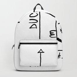 Duck Bunny Funny Minimalistic Backpack