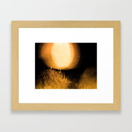 Dark Night Amber Framed Art Print