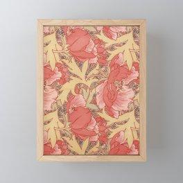 William Morris Poppies Floral Art Nouveau Pattern Framed Mini Art Print