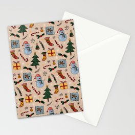 Christmas Holiday Pink Stationery Cards