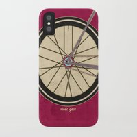 brompton iPhone & iPod Cases featuring Single Speed Bicycle by Wyatt Design
