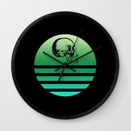 Retro Skull 7 Wall Clock