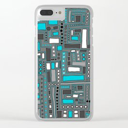 Turquoise Dream (Pattern) Clear iPhone Case