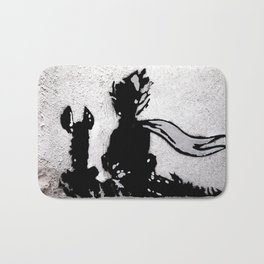 The little prince and the fox - stencil for the LIFE CURRENT WALL series Bath Mat