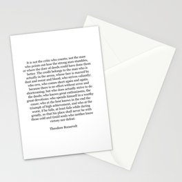 Man In The Arena, The Man In The Arena, Theodore Roosevelt Quote Stationery Cards