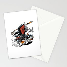 Death Drinks A Mai Tai Stationery Cards