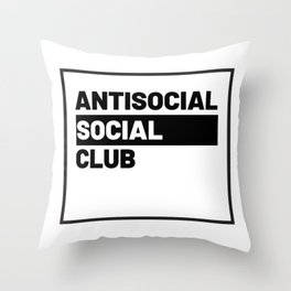 ANTISOCIAL SOCIAL CLUB Throw Pillow