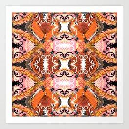 Boujee Boho Rustic Gothic Mandala Art Print