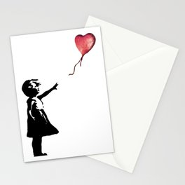Banksy cosmic balloon Stationery Cards