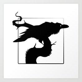 Raven Silhouette III Art Print