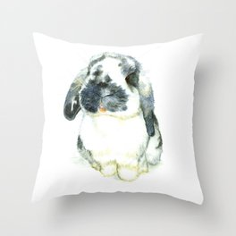 Fluffy Bunny Throw Pillow