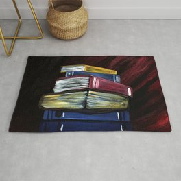 Books Of Knowledge Rug
