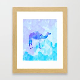 Abstract Camel Framed Art Print