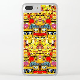 Pants Party Square Sea Show Clear iPhone Case