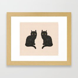 Bertie and his Twin Framed Art Print