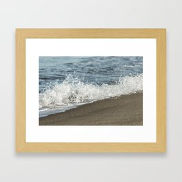 Sandy Beach Wave Framed Art Print