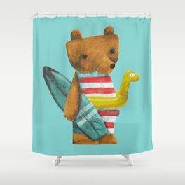Summer Bear Shower Curtain