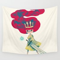 aurora Wall Tapestries featuring aurora by yohan sacre