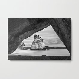 Cathedral Cove Metal Print