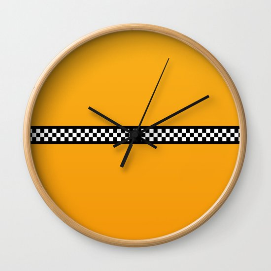 NY Taxi Cab Yellow with Black and White Check Band by podartist