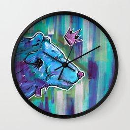 Blue Bear King Wall Clock