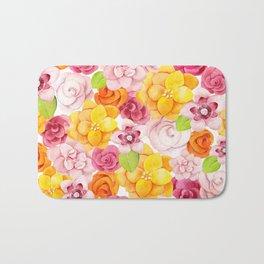 Colorful Summer Flowers Bath Mat