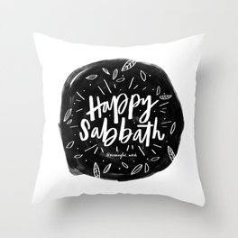 Happy Sabbath Throw Pillow