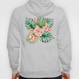 Tropical Jungle Hibiscus Flowers - Floral Hoody