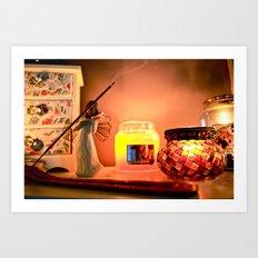 Warm still life Art Print