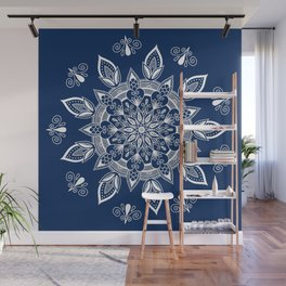 RB Mandala Design with botanical elements Wall Mural