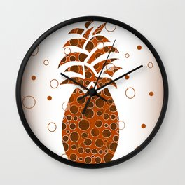 Mod Pineapple Wall Clock