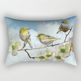 Mejiro in Dogwood Tree Rectangular Pillow