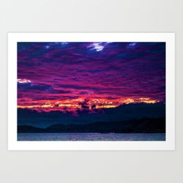 Mount Desert Island, Arcadia Maine Sunset Art Print