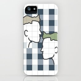 Life in gingham iPhone Case